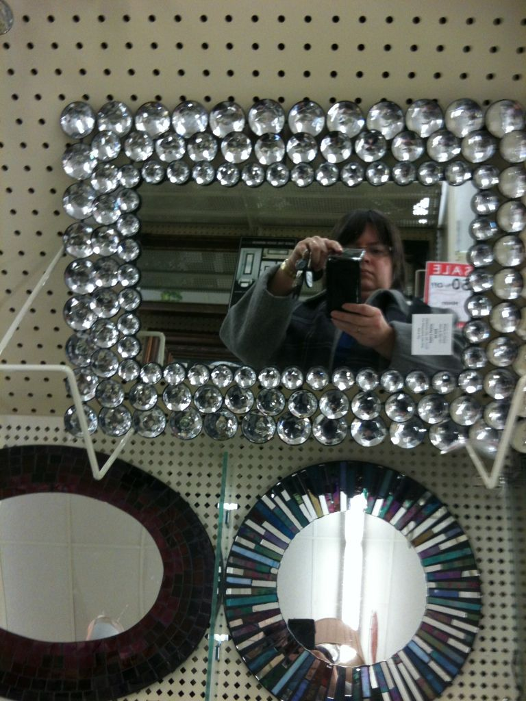 Rhinestone Wall Mirror if i don't get the bling wall art i saw at meijer, i'll get this