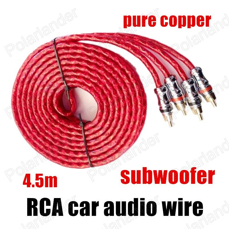 a New red for amplifier speaker subwoofer RCA to RCA Car Audio Cable ...