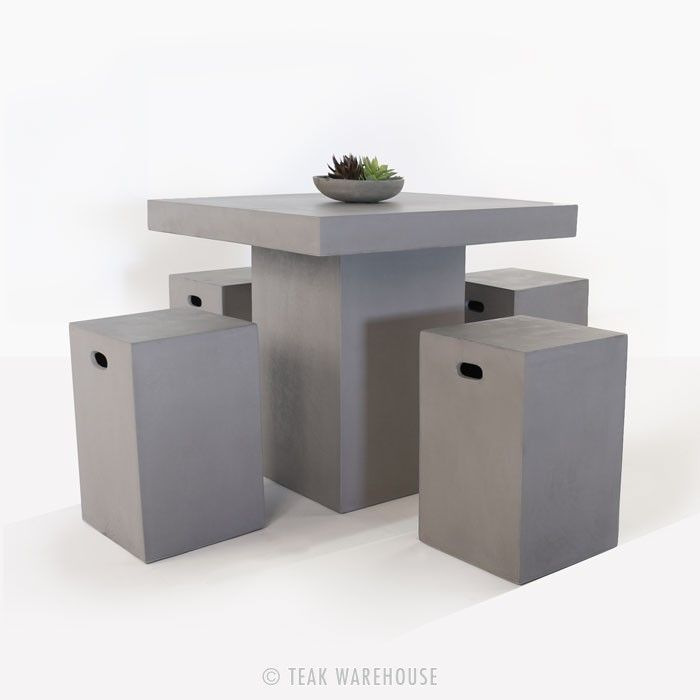 A Counter Height Concrete Outdoor Furniture Collection, Perfect For Those  Spaces That Will Thrive With The Addition Of Contemporary Lightweight  Concrete.