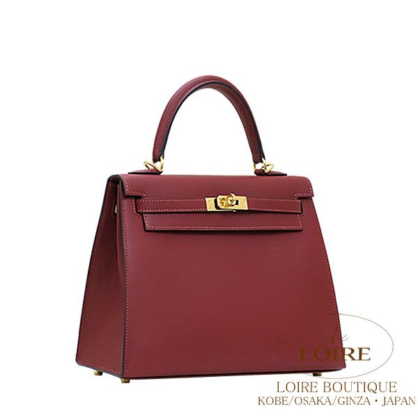 303ac9e36a4a  Hermès  Hermes  Kelly sewing sombrero rouge Ashe  ROUGE H(55)  out of 25cm  Gold metal fittings