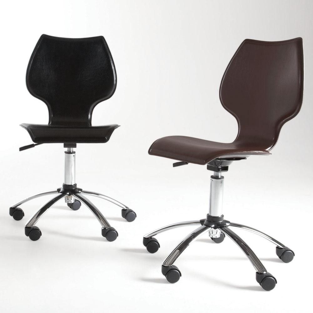 Armless Desk Chair On Casters