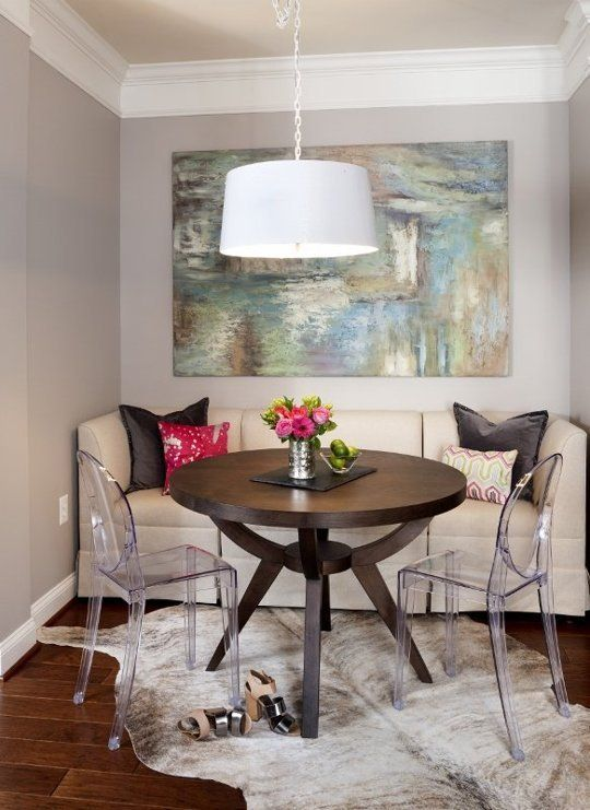 A Couple's Graphic & Cool Small Space Condo  Dining Area Small Entrancing Best Dining Room Table For Small Space Design Decoration
