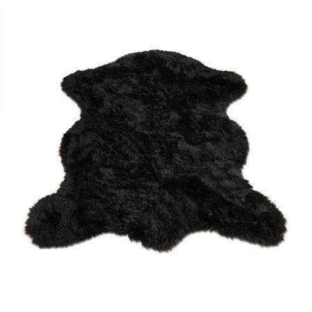 Amazon.com: Premium Faux Fur Sheepskin Rug / Accent Pelt Rug / 2 feet x 4 feet / Black Sheep / Bear skin / New: Furniture & Decor