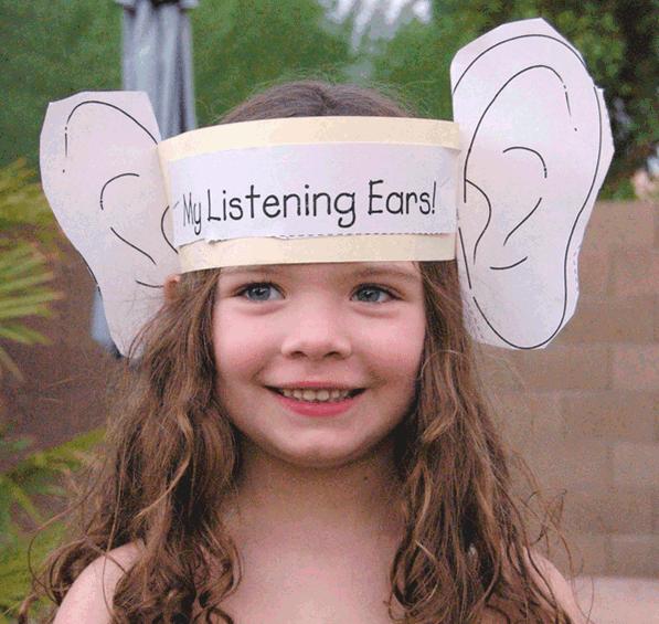 Listening ears craft for kids | Kid's Life | Pinterest
