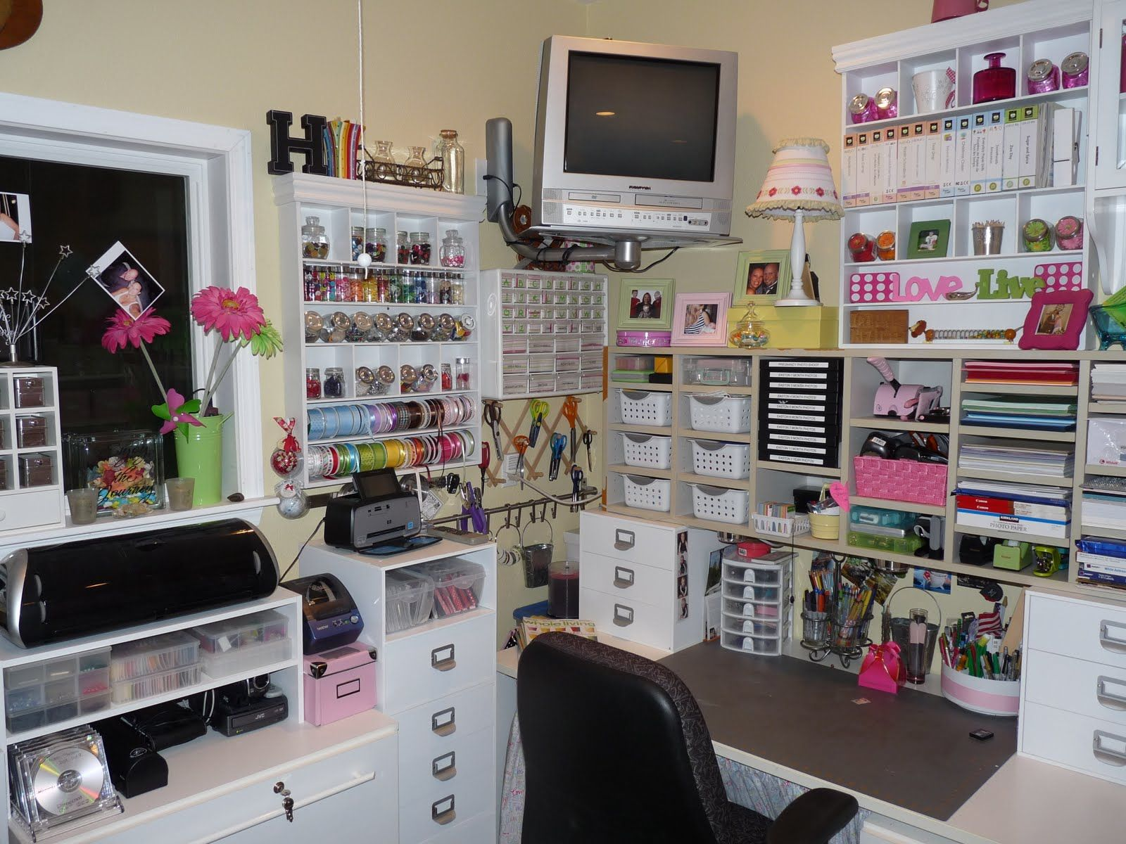Scrapbook Room Design Ideas Part - 15: Scrapbooking Rooms Pictures And Ideas | Looking At My Room From Entry To  The Left.