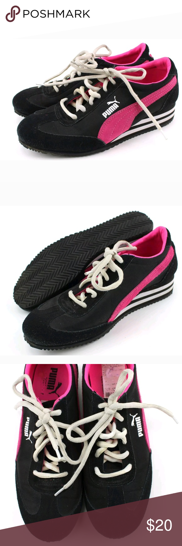 d71eb7a0384 Puma Eco Ortholite Black Pink Sneakers Puma Eco Ortholite Black Pink Sport  Lifestyle Sneakers