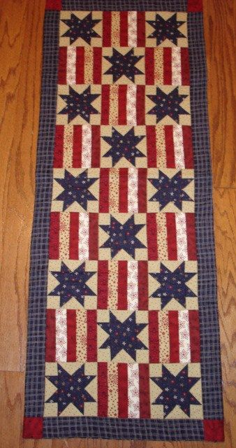 Terrific Instructions Only Stars And Stripes Patriotic Quilted Table Home Interior And Landscaping Eliaenasavecom