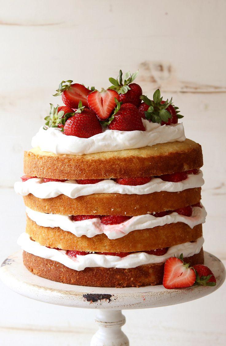 Enjoyable Strawberry Shortcake Layer Cake Recipe Lovely Desserts And Personalised Birthday Cards Veneteletsinfo