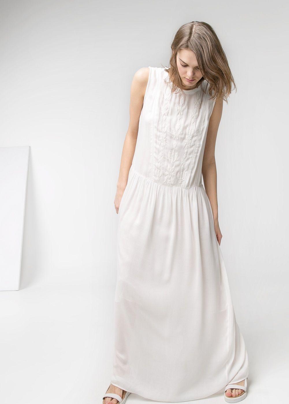 Vestido largo bordados - Mujer | Vestido largo, Ropa linda y ...