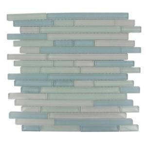 Splashback Tile Temple Coast 12 in. x 12 in. x 8 mm Glass Mosaic Floor and Wall Tile TEMPLE COAST at The Home Depot - Mobile
