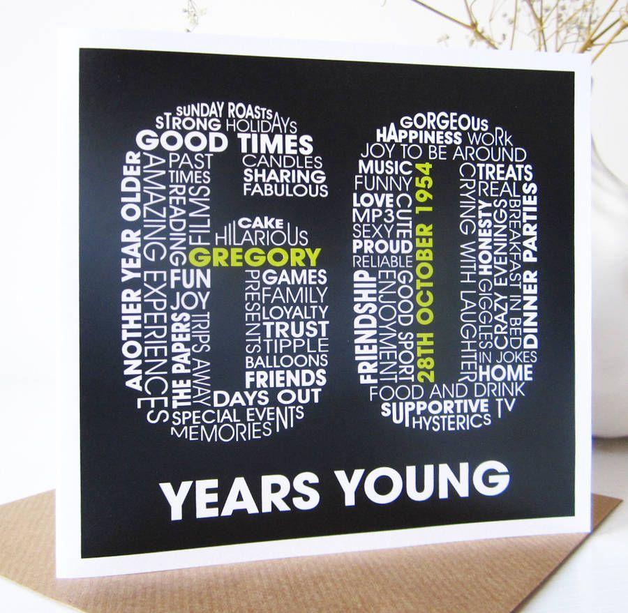 Personalised 60th birthday card birthdays and cards personalised 60th birthday card bookmarktalkfo Choice Image