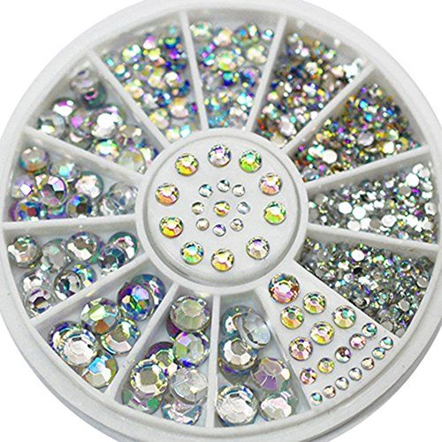 5 Sizes White Multicolor Nail Art Decoration Acrylic Glitter Rhinestones *** Be sure to check out this awesome product. Note:It is Affiliate Link to Amazon.