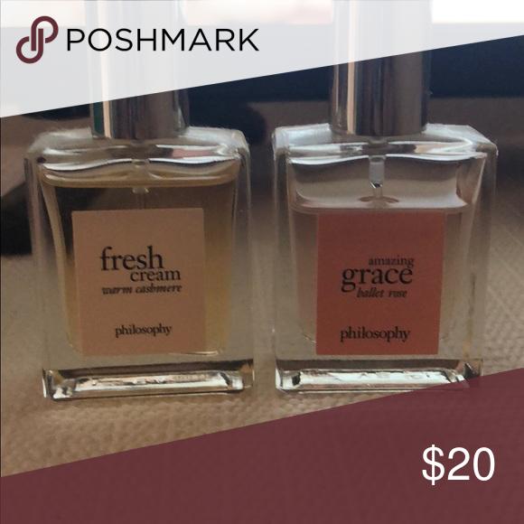 Philosophy Fragrance Set Philosophy Fresh Cream Warm Cashmere Fragrance And Amazing Grace Ballet Rose Both 5 O Fragrance Set Philosophy Fresh Cream Fragrance