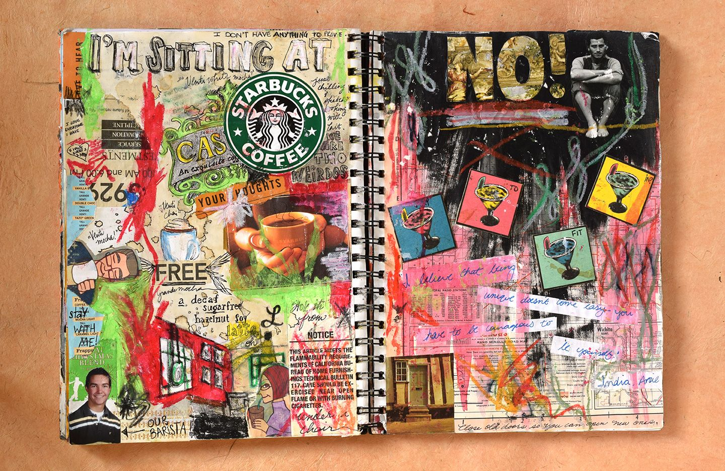 How To Make A Sketchbook Journal And Why You Should The Postman S Knock Sketch Book Starbucks Art Sketchbooks Journals