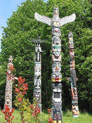 Northwest Coast Tribal Totem Pole Art