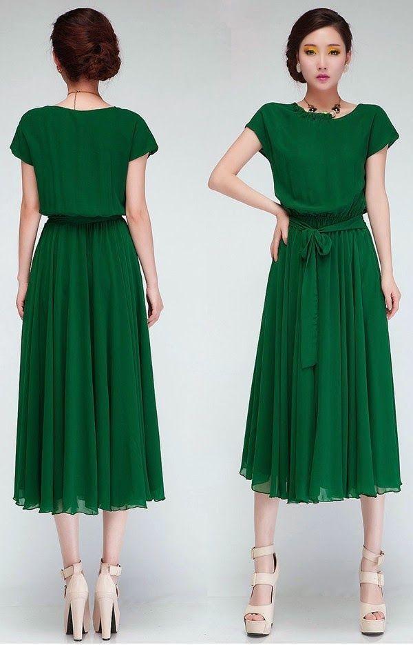 $24.63 Women's Going out Chiffon Swing Dress - Solid ...