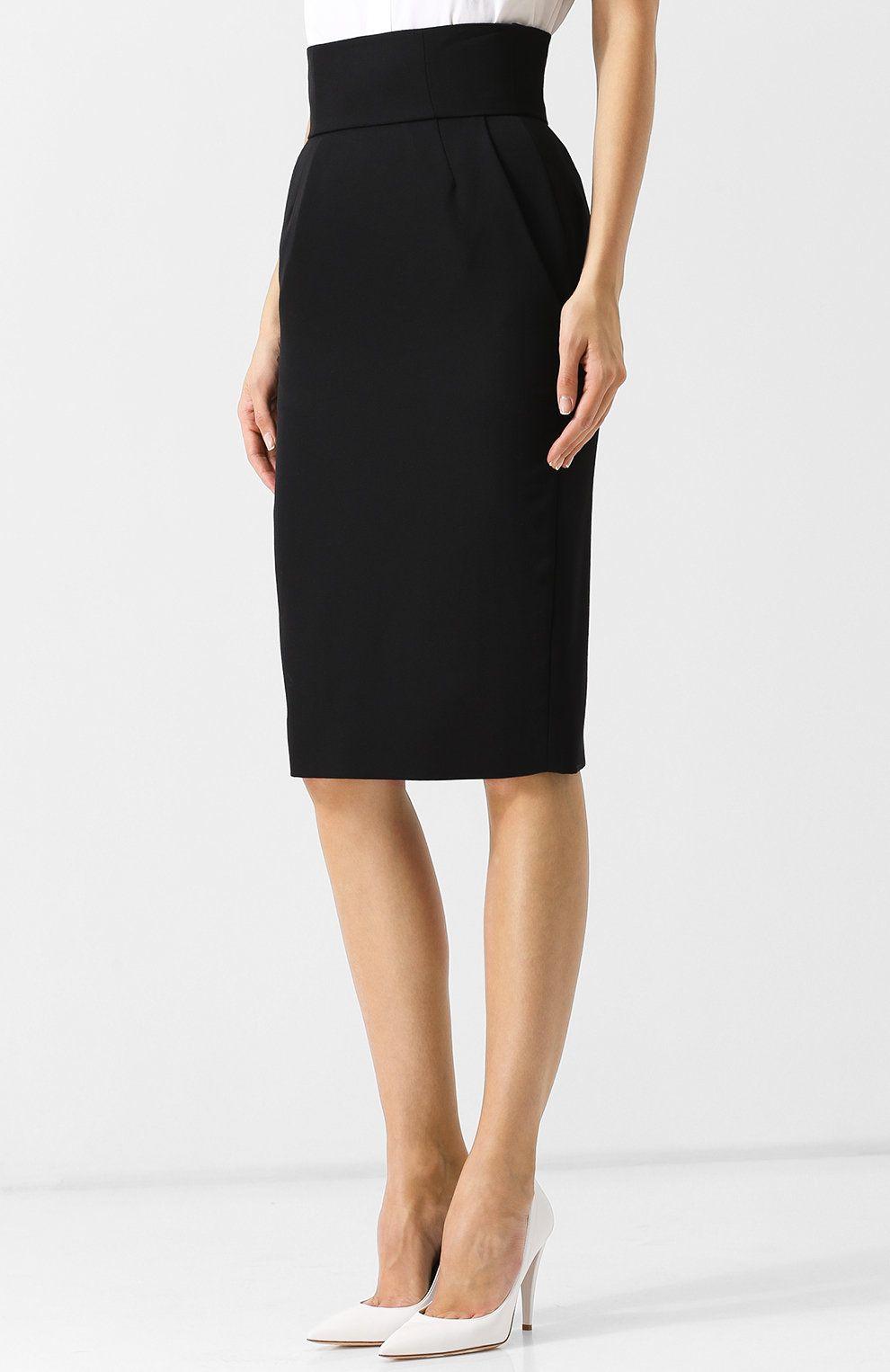 Шерстяная юбка-карандаш с завышенной талией в 2020 г ...