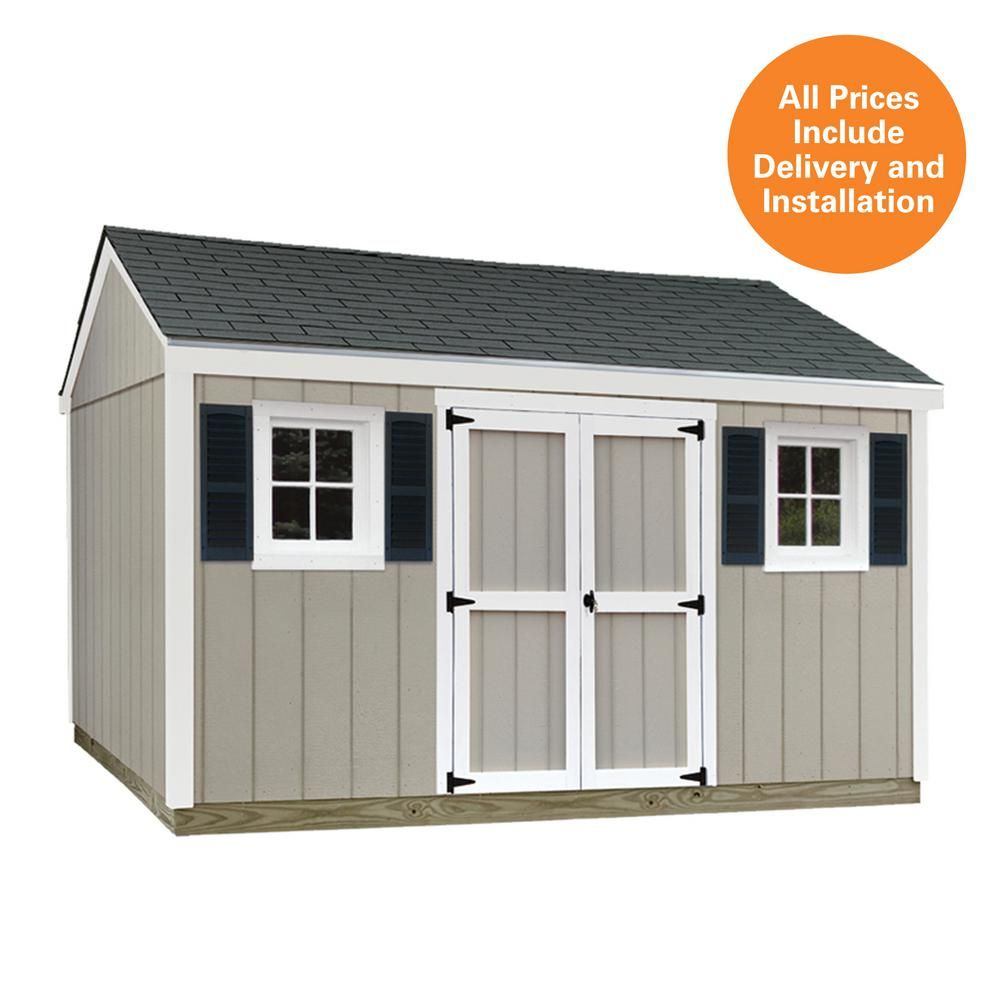 Sheds Usa 10 Ft X 12 Ft Installed Smart Siding Classic Prefab Sheds Custom Sheds Backyard Sheds