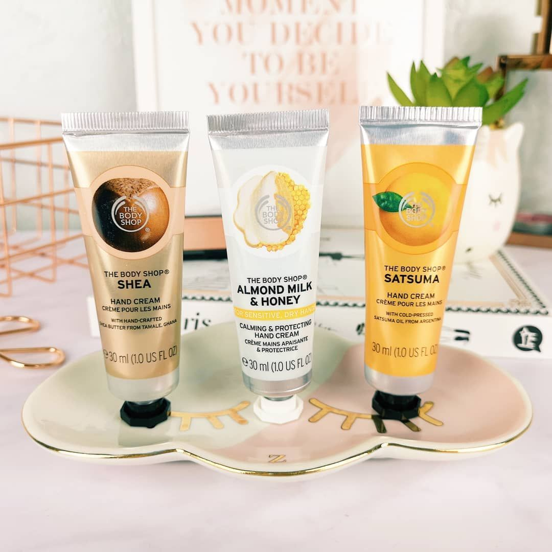 The Body Shop Mini Hand Creams In Shea Almond Milk Honey And