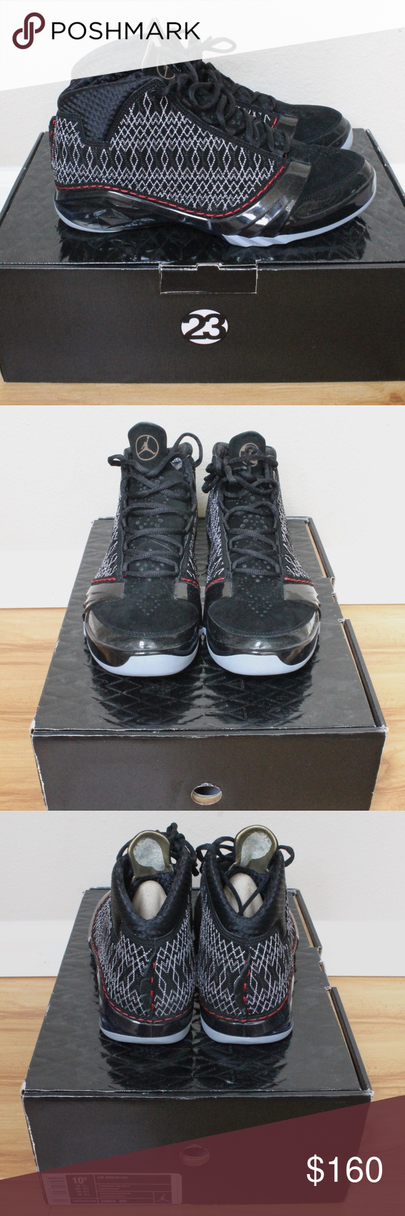 huge discount f1db1 4c36c Nike Men s Air Jordan XX3 - Black Grey (Size 10.5) Nike Men s Air Jordan XX3  - Black Varsity Red-Stealth (Size 10.5) - 318376001 Brand new, never worn  Air ...