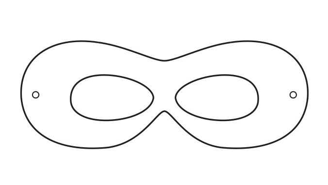 Robin Mask Template  Do It Yourself    Mask Template