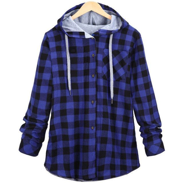 Plaid Side Zipper Scotland Long sleeved Casual Shirt Hiphop