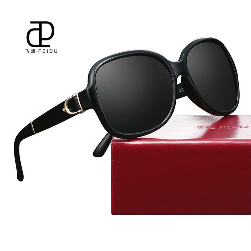 c399d79006af FEIDU Sunglasses Women Brand Original Designer Luxury Butterfly Pattern  Points Women Retro Vintage Uv400 Oculos De Sol Wirh Case