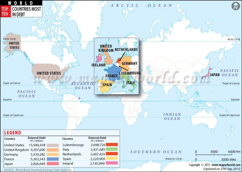 Top ten countries most in debt maps pinterest top ten countries with highest deforestation world top ten external debtworld mapstop gumiabroncs Choice Image