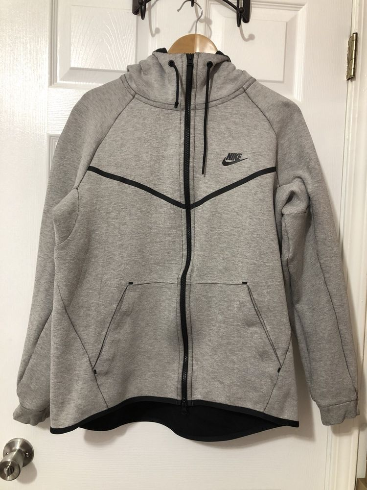Nike Sportswear Tech Fleece Windrunner Hoodie Light Bone Heather ... 95a9fc75a