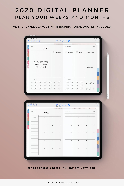 Digital Planner 32, Ipad planner Goodnotes, Notability planner ...