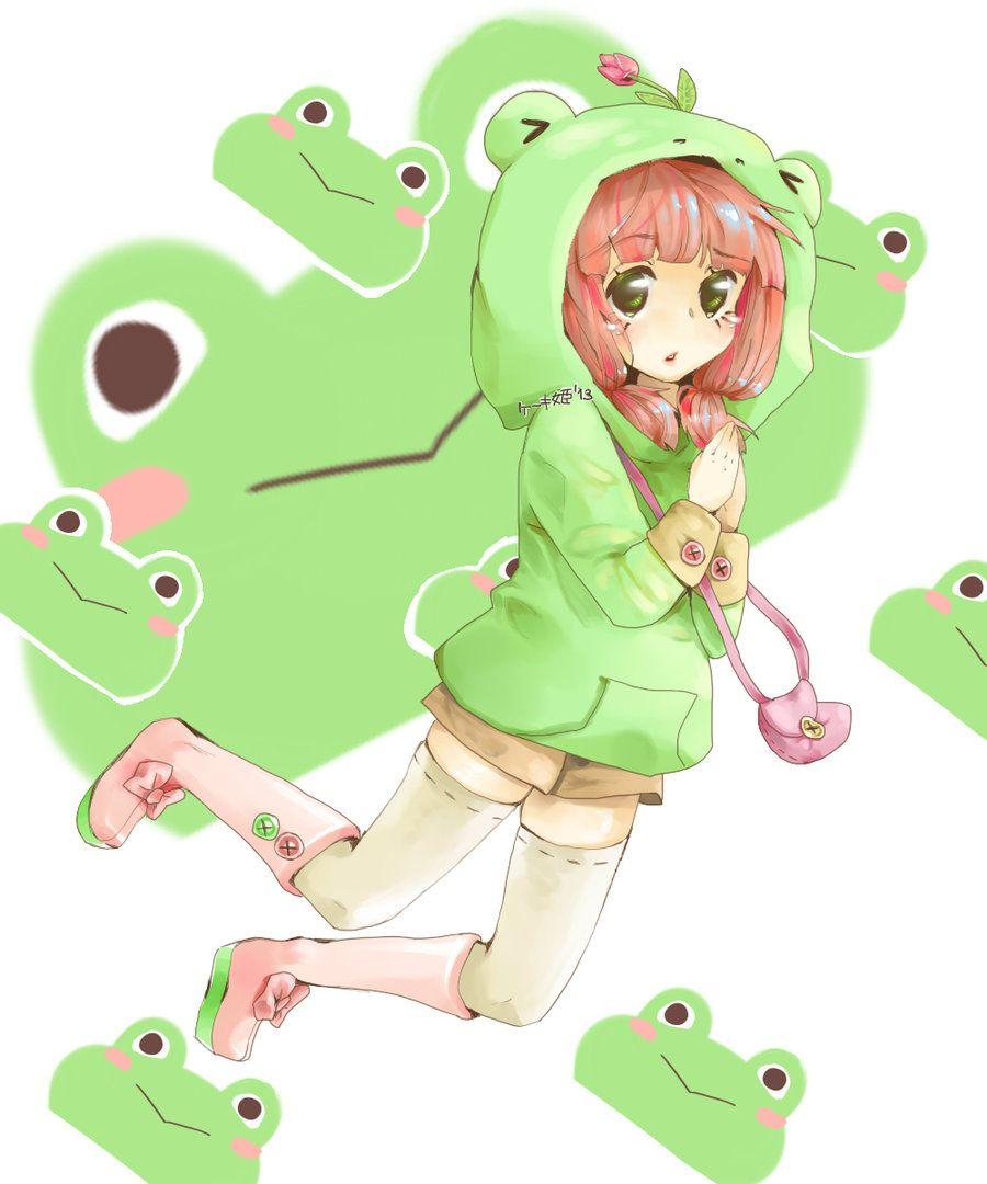 Frog Girl Freebie Frog Art Cute Frogs Frog Drawing