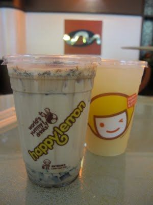 Crispy Cocoa Milk Tea with Brown Sugar Jelly and Lemon