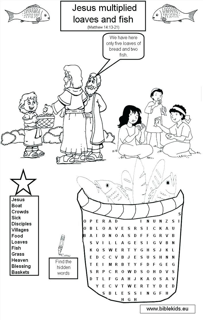 jesus feeds the 5000 coloring page feeds coloring pages