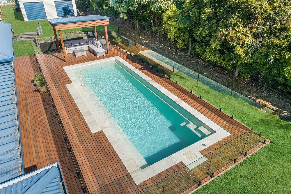 Symphony 10 Summer Pearl Installed By Narellan Pools Sunshine Coast Moreton Bay Outdoor Pool Area Swimming Pools Backyard Pool Landscaping