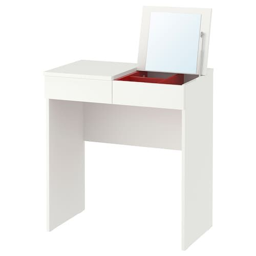 Ikea Brimnes Dressing Table, White Dressing Table With Built In Mirror