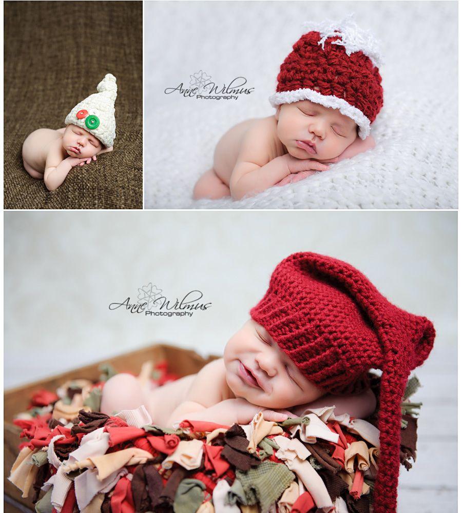 Christmas newborn photography ideas, hats, pittsburgh best baby ...