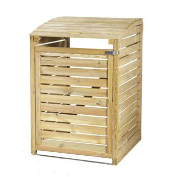 Cache Poubelle En Bois Simple Forest Style Naturel 054