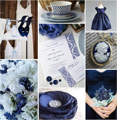 Wedding Color Combination Navy And White