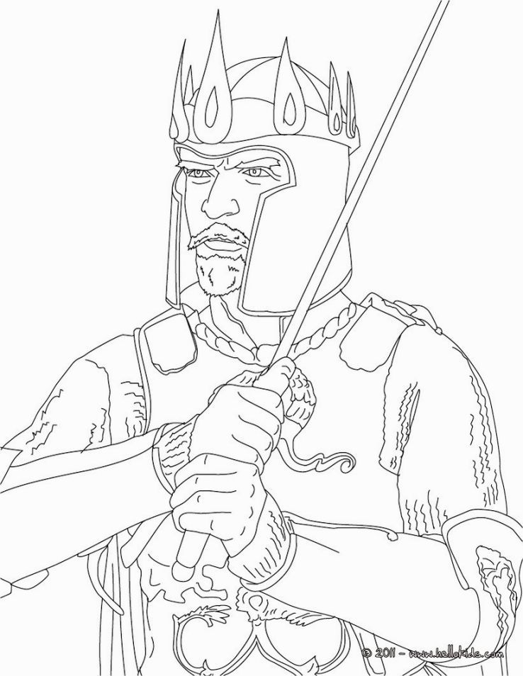 King Arthur Coloring Pages Coloring Pages Pinterest Colouring