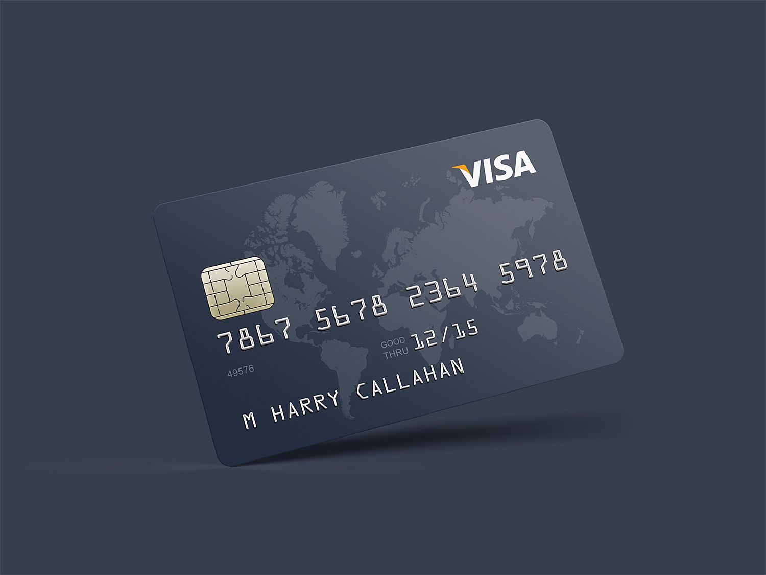 Free Photorealistic Credit Card Mockup With Images Credit Card