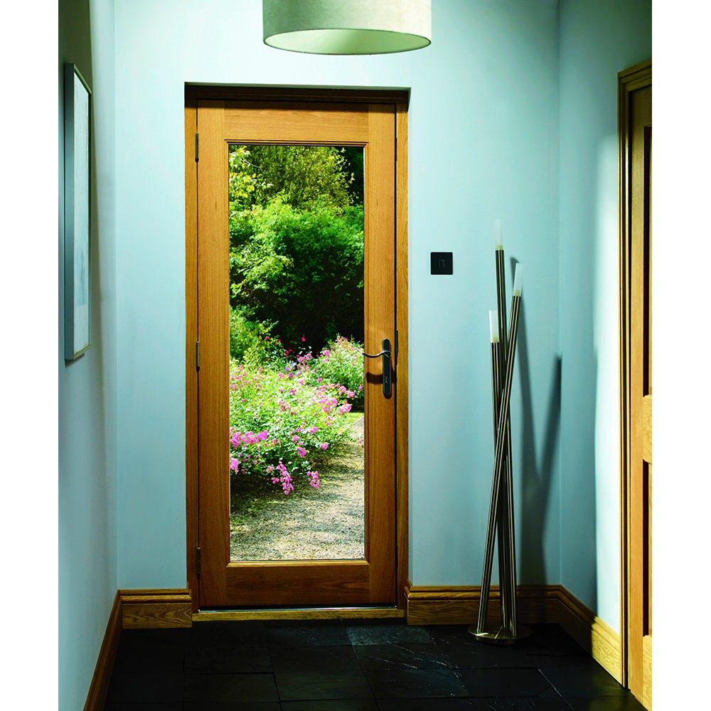 External Oak Veneer Pattern 10 Clear Glazed Door 1981 x 762 x 44mm - Exterior Glazed & XL Joinery External Oak Veneer Pattern 10 Clear Glazed Door 1981 x ...