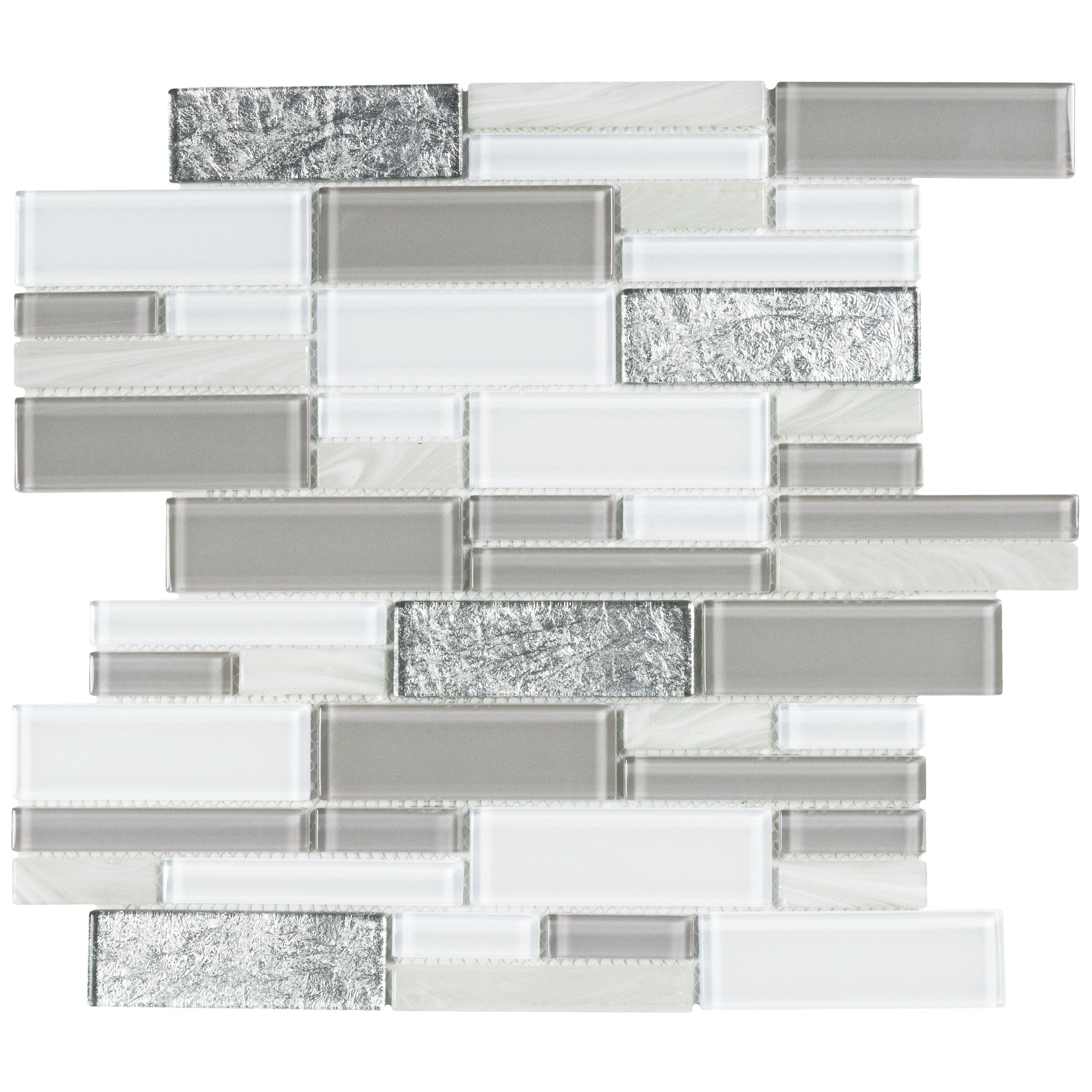 mto0218 modern linear grey white glass mosaic tile products rh pinterest com