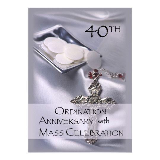 40th ordination anniversary invitation invitations pinterest 40th ordination anniversary invitation stopboris Images
