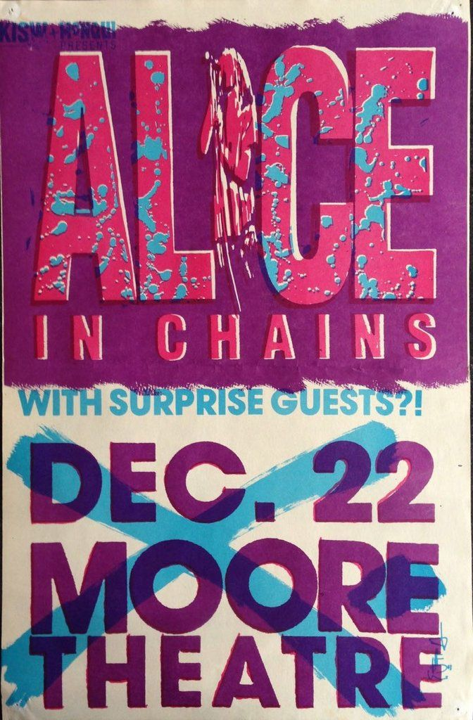 Alice In Chains Mookie Blaylock Poster Flyer Moore Theater