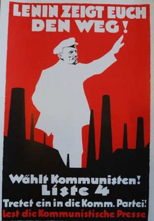 Lenin shows you the way. Vote Communist!  available at artofrevolution.co.uk