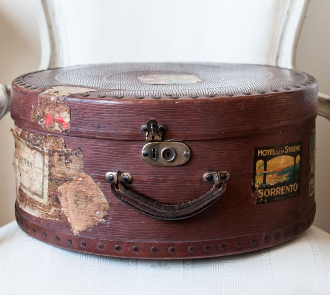 Early 1900s French Hat Box Via Www Parishotelboutique Com Vintage Hat Boxes Hat Boxes Hat Box