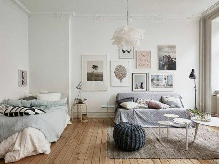 Salotto Moderno Bianco E Grigio : Mobili salotto moderni di colore bianco e grigio abbinati parete
