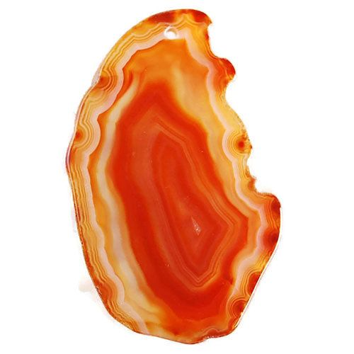 Slice Crystal Agate Freeform Pendant Bead by TopsyCurvyDesigns on Etsy