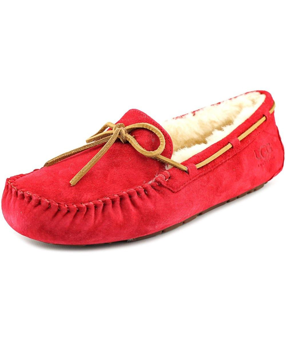 UGG Ugg Australia Dakota Women Moc Toe Suede Red Slipper. #ugg #shoes #