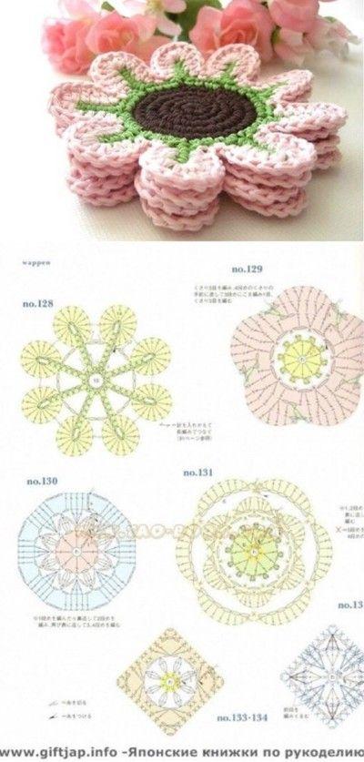 堆糖-美好生活研究所 | memy | Pinterest | Ganchillo, Portavasos y Flores
